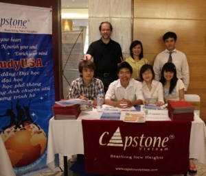 With staff & interns at the 2011 VAC in Hanoi.