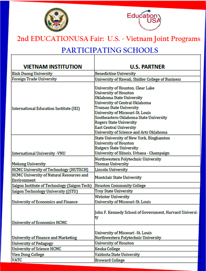 US-VN Joint Programs (EducationUSA HCMC)