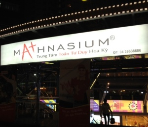 A Mathnasium center in Hanoi.