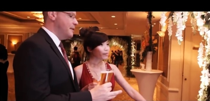 Michael Sestak and his date at the wedding of Tăng Bình & Anh Đào.