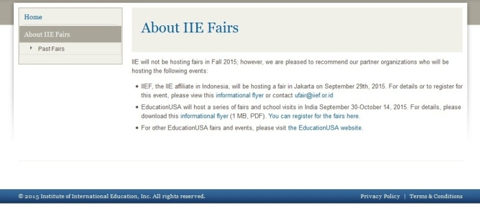 IIE Higher Education Fairs
