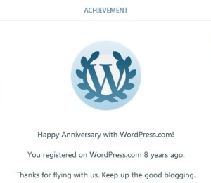 wp 8 anniversary
