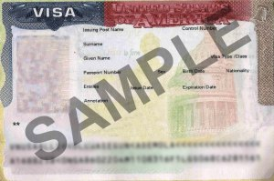 sample visa