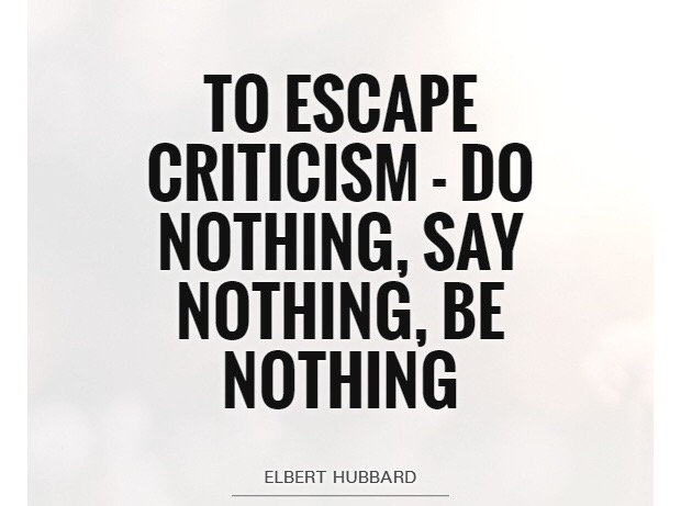 escape criticism